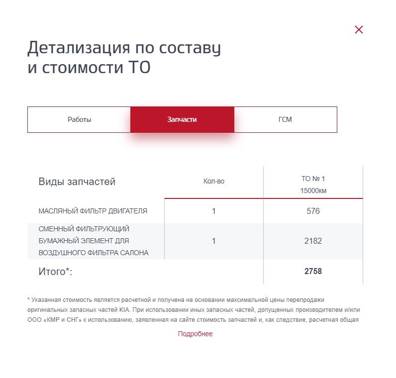 Стоимость ТО-1 Киа Селтос